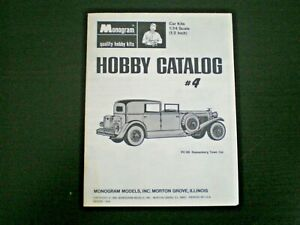 Monogram  Original Mini Hobby kit Catalog sheet #4 from 1968