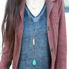 Fashion Charm Jewelry Turquoise Choker Statement Bib Pendant Necklace Chain
