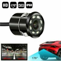 8 LED Waterproof Car Backup Rear View Reverse Parking HD Camera Night Vision Cam