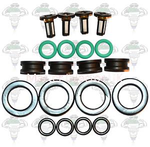 Honda Keihin Early Type 5 Petrol Fuel Injector Seals Filters 4 Cylinders-Kit 142