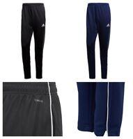 Boys Adidas Tracksuit Bottoms Sports Training Football Trouser Pants Black Navy