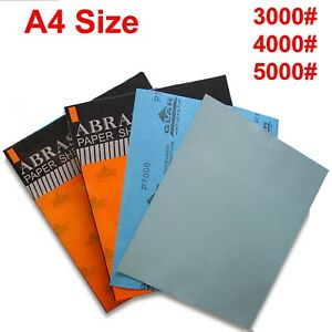 A4 Size Wet and Dry Sand Paper Pad Fine Sandpaper Grit 5000# 4000# 3000# For Car