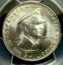PCGS MS64 Gold Shield-Philippines 1947S General Doublas Silver 50 C. Choice BU