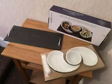 Grunwerg Commichef Stainless Steel Slate Butter Cloiche Tray Set SLT-BC