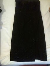 Black Strapless Evening Dress With Diamante design Size 10