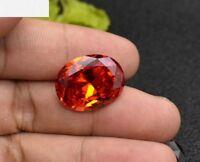 8.28ct AAAAA 10x12mm Oval Padparadscha Sapphire Diamonds Cut VVS Loose Gemstone