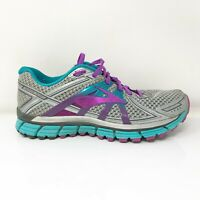 Brooks Womens Adrenaline GTS 17 1202311B055 Gray Purple Running Shoes Size 9 B