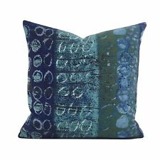 Vintage 60s Heals April Shower Fabric By Nicola Wood Blue Cushion Cover