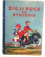 Zig et Puce en Ethiopie. SAINT-OGAN. Hachette 1952. Edition originale Dos frotté