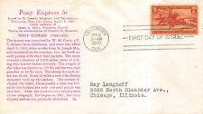 894 3c Pony Express Mellone #84 Munprint Cachet [386321]