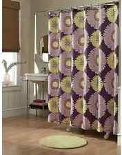Sunflower purple fabric  shower curtain