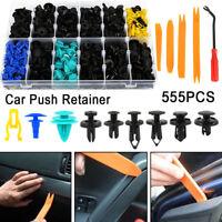 555Pcs Plastic Car Door Trim Clip Bumper Rivets Screws Panel Push Fastener Kit
