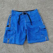 Pelagic Boardshorts Mens Size 34 Nylon Cargo Shorts Blue