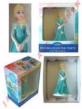 10cm Elsa from Frozen icing sugarpaste model birthday cake topper decoration