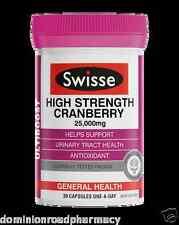 Swisse Ultiboost High Strength Cranberry 25,000mg 30 Cap 10 pack total 300 Caps
