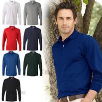 Jerzees Adult SpotShield Long-Sleeve Jersey Polo Sport Shirt S,M,L,XL,2XL -437ML