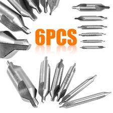 6pz PUNTE da Centro HSS 1/1.5/2/2.5/3/5mm 60° Degree Drills Bit Hole Cutter Kit