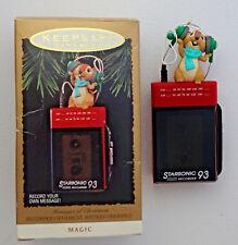Hallmark Keepsake Messages of Christmas recordeer ornament 1993 QLX747-6 in box