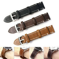 Womens Leather Watch Strap Band Mens Stainless Steel Buckle 18 19 20 21 22MM  Sn