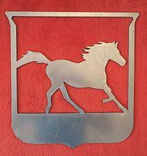 Stemma fregio figura cavallo in corsa in ferro per cancello inferriate a saldare