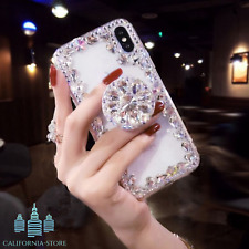 2019 New Style Luxury Flash Diamond Airbag Bracket Phone Case