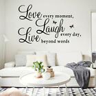 Inspirational Words Love Butterfly Wall Sticker Decal Room Home Decoration Us
