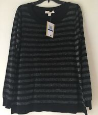 MICHAEL Michael Kors Lurex Stripe Sweater. Size XL.