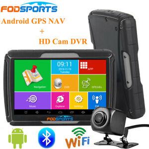 Motorcycle DVR GPS Navigation Waterproof Car Navigator Android Wifi +Camera+ Map