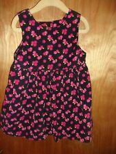 Girls Gymboree Toddler Medium 3 4 Flowered Corduroy Jumper Dress Winter Fall