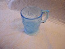 Blue Glass Bird Pattern Mug