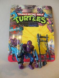 Vintage 1988 TMNT Foot Soldier Complete Accessories & Card. Mutant Ninja Turtles