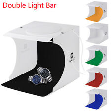 Double LED Light Room Photo Studio Photography Lighting Tent Backdrop Cube Box
