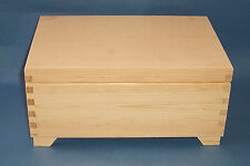 New Natural pine Wooden Box with 6 compartment lift out tray decorate yourself