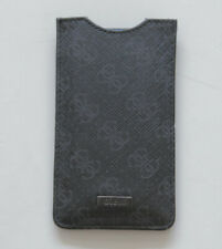 Neu Guess Handy Smartphone Case Cover universal Schutzhülle Schwarz grau Logo