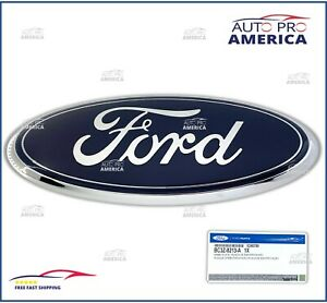 NEW OEM 11-16 Ford Super Duty Front Grille Ford Emblem Blue Oval Badge BC3Z8213A