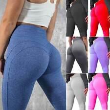 Women Push Up Yoga Leggings Sport Pants High Waist Ruched Gym Fitness Trouser G2