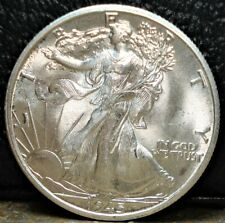 1945-D Silver Walking Liberty Half Dollar Out of PCGS Rattler Holder Graded MS63