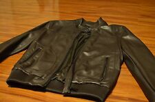 Zara brown faux leather Mens moto jacket - Sz Medium