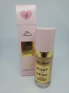 Too Faced Plump & Prime Luxury Face Plumping Serum 1oz *read