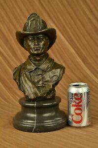 Hand Made New York Brave Fireman Bronze Classic Museum Quality Sculpture Statue