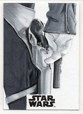 Solo: A Star Wars Story 1/1 Trading Card SKETCH by SAMMY GOMEZ / HAN SOLO