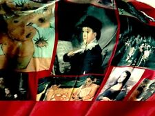 Beautiful Vintage Art Shower Curtain in Rich Fabric Or Wall Decor - $44