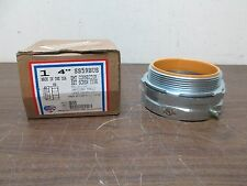 """AMERICAN FITTINGS 4"""" EMT CONNECTOR SET SCREW W/ INSULATED THROAT SS59BUS NEW"""