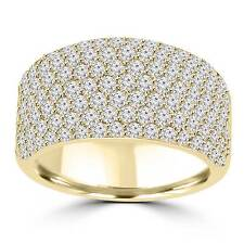 3.25ct Ladies Round Cut Diamond Anniversary Wedding Band Ring 14k Yellow Gold