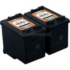 2 Patronen für HP C6656AE DeskJet 450 CBI