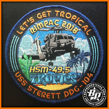 HSM 49 DET 5 DEPLOYMENT EMBROIDERED PATCH USS STERETT RIMPAC 2018 MH-60R SEAHAWK
