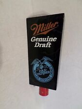"Miller Genuine  Draft MGD Marble Look 5.5"" Beer Keg Tap Handle Marker Knob"