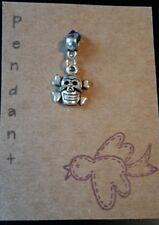 Skull and crossbones pendant tibetan silver stocking filler.
