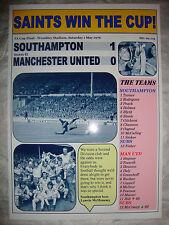 Southampton 1 Manchester United 0 - 1976 FA Cup final - souvenir print
