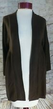 Sweet Romeo Brown Open Faced Sweater Cardigan Women's Size Medium